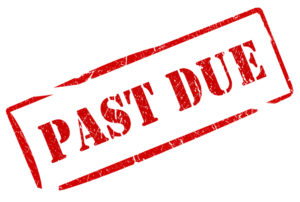 Past due payment stamp image